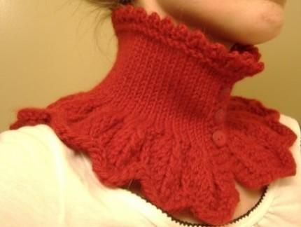 вязание манишки спицами - Сумки.