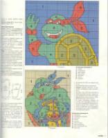 Схема вышивка черепашки ниндзя 2