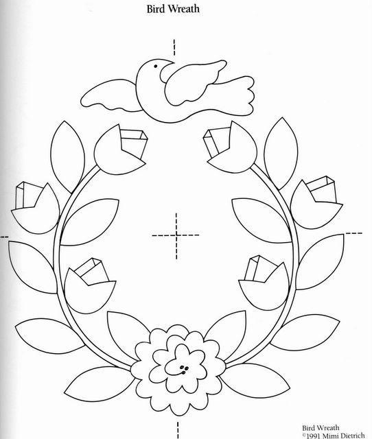 Цветы для аппликации шаблоны - 20