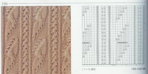 Вязание спицами схема мотыльки и косы 76