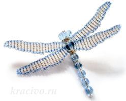 Gallery.ru / Стрекоза - Бижутерия с использованием пластики и компонентов Сваровски - marina-kotliar.
